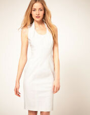 Closing Down French Connection White Cotton Dress UK 14