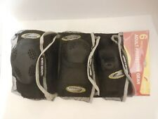 New Forward 6-Pc Adult Protective Gear Knee, Elbow, & Wrist Pads - Large