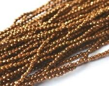 """13"""" STRAND PYRITE (GOLDEN) FACETED RONDELLE 2 MM COATED GEMSTONE BEADS #4206"""