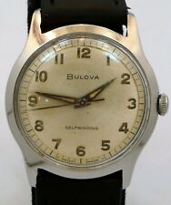 EXCELLENT ORIGINAL 1966 BULOVA SELFWINDING FACTORY RADIUM DIAL WATCH SERVICE RUN