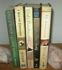 LOT OF 5~GILBERT MORRIS NOVELS~~HARDCOVER & SOFTCOVER~~GDC~~LOT #A