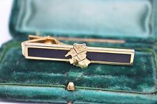 Vintage Gold tie clip art deco style with enamel Australia design #T304