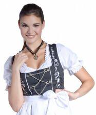 MINI- oder MIDI-Dirndl EMMA Bluse Schürze Schwarz/Weiß 32-46 Tracht Oktoberfest