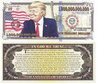 Trump Trillion Dollar Bill Funny Money Gospel Tract Novelty Note + FREE SLEEVE