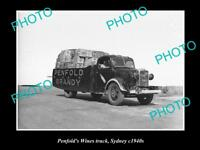 OLD POSTCARD SIZE PHOTO OF THE PENFOLDS WINES TRUCK SYDNEY NSW c1940 6