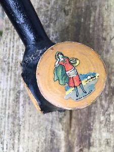 Shillelagh Irish Blackthorn Cudgel Stick Colleen War Club Traditional Painted