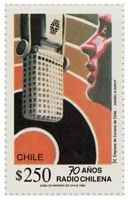 Chile 1992 #1587 70 años Radio Chilena