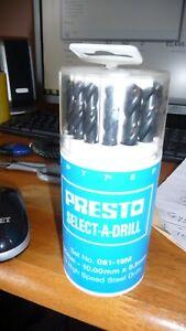 Presto HSS 19 Piece Select A Drill Set 1-10MM x 0.5MM 09510M19