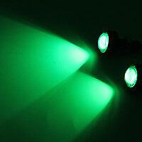 2pcs 23mm LED Eagle Eye Car Light Fog Reverse Signal Daytime Running Bulb green