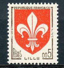TIMBRE FRANCE NEUF N° 1230 ** BLASON LILLE COTE 5 € / Photo non contractuelle