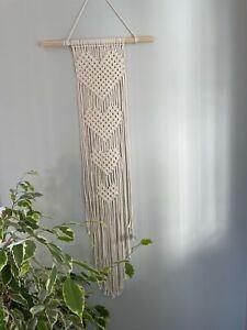 Handmade cotton macrame 4 Hearts Wall Hanging