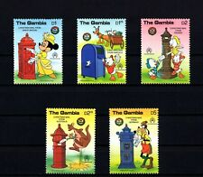 Gambia - 1986 - Disney - Christmas - Letters - Mickey - Pluto - Mint - Mnh Set!