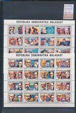 XC18054 Madagascar 1992 personalities sheets MNH cv 32 EUR
