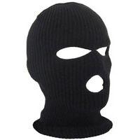 Cagoule Masque de Tempête Cagoule Olive 3 Trou Tricot Masque Moto Armée Noir