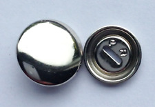 10 SELF COVER ROUND METAL BUTTONS SIZE 15mm FREE P&P UK