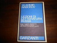 LIBRO: Lezioni di letteratura russa -Vladimir Nabokov-1987--Rarissimo