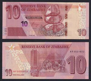Zimbabwe 10 dollars 2020 FDS/UNC  A-05