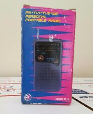 Electro Brand Portable  Personal  Radio FM TV Sound & Weather Report New