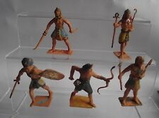 Rare Cherilea Egyptian Pharoh Plastic Figures Soldiers Collection 1.32 Scale