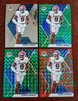 LOT (4) 2020 Mosaic NFL Football Kenneth Murray Green Reactive Chargers RC