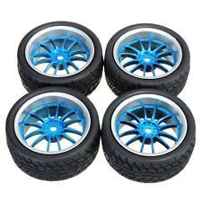 1:10 Auf Flache Straße Rennsport RC Auto Gummi Reifen Felgen 12 Speiche - UK