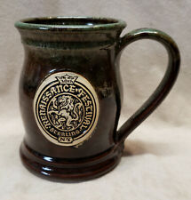 GREY FOX POTTERY RENAISSANCE FESTIVAL STERLING NEW YORK MUG NY COFFEE CUP NEW