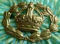 British Army Warrant Officers Sleeve Badge KC BRASS 2 Lugs ANTIQUE Original