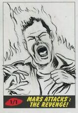Mars Attacks The Revenge Sketch Card By Neil Camera