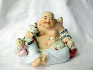VINTAGE CHINESE CERAMIC BUDDHA FIGURE