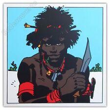 Affiche Sérigraphie Hugo Pratt Corto Maltese Cush 50x50 cm