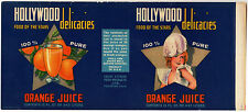 *Original* HOLLYWOOD DELICACIES Fullerton FOOD OF THE STARS Can Label NOT A COPY