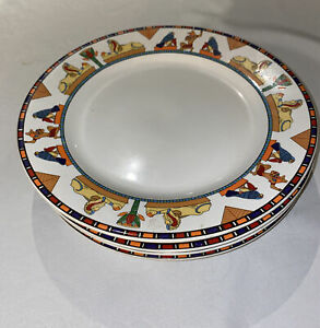 Vitromaster Isis 1993 Sue Zipkin 4 Dinner Plates Discontinued