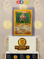 Hitmonchan 7/102 LP Lightly Played Base Set Holofoil Rare Holo Pokemon Card
