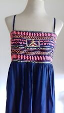 BNWT LADIES SIZE X LARGE BLUE LONG MIX SUMMER  DRESS BY MATALAN