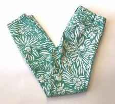 DVF Current Elliott Womens Mint Green White Print Skinny Jeans Size 27