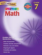 Standardized Test Prep Math Grade 7~Spectrum Math Workbook Grade 7-Answer Key