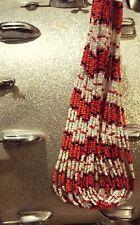 Jim Morrison Cobra Necklace The Doors Replica Handmade Glass Beads Red & White