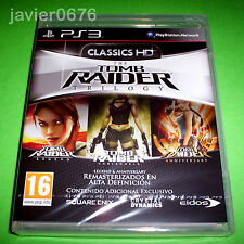 TOMB RAIDER TRILOGY CLASSICS HD PAL ESPAÑA NUEVO Y PRECINTADO PLAYSTATION 3
