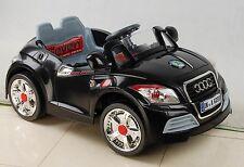 AUDI TT KIDS ELECTRIC TOY RIDE ON CAR +  PARENTAL REMOTE CONTROL BLACK
