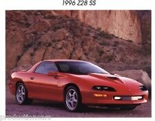 1996 Chevrolet Chevy Camaro Z28 SS 1-page Sales Brochure Fact Sheet