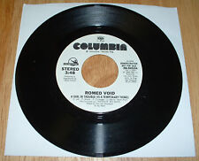 Romeo Void RARE White Label PROMO Girl In Trouble 45 A+ FREE US SHIPPING