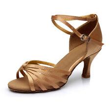 "Ladies Professional Ballroom Dance Shoes Latin Salsa Tango adjustable 2"" 2.7"""