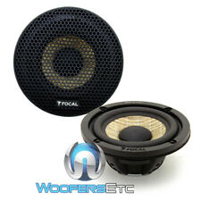 "FOCAL 3FX 3"" 50W RMS EXPERT FLAX CONE MIDRANGE CAR AUDIO SPEAKERS & GRILLS MEW"