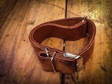 Bracelet NATO Straps Cuir Leather Hand Made Vintage 20/21/22mm
