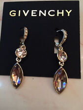 Brand NEW - Givenchy Goldtone Marquise Crystral Drop Earrings