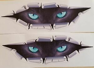 3D Pair Car Styling Funny Cat Eyes Sticker Waterproof Peeking Monster Decals .