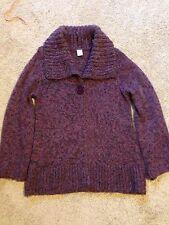 Ladies Pink Tone Acrylic/ Mohair/ Wool Cardigan Size 12