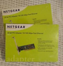 Netgear FA311 10/100 Mbps PCI Ethernet Network Card New in Sealed Box - Lot of 2