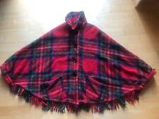 Vintage Women's Tartan Cape Scottish Wool
