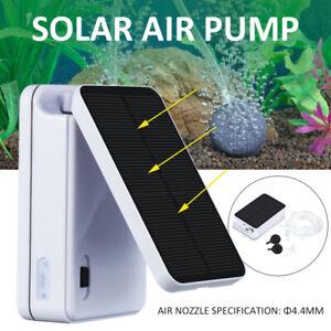 Solar Powered Oxygenator Air Pump Water Oxygen Aerator Ponds Aquarium Fish Tank